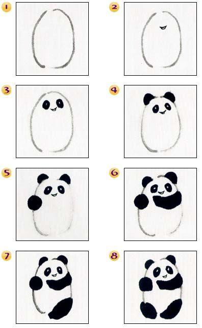 Osos Panda Dibujo Paso A Paso Cest Trop Mignon K