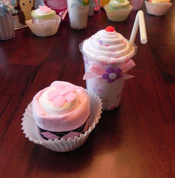 Onesie /& Diaper Cupcake Combo