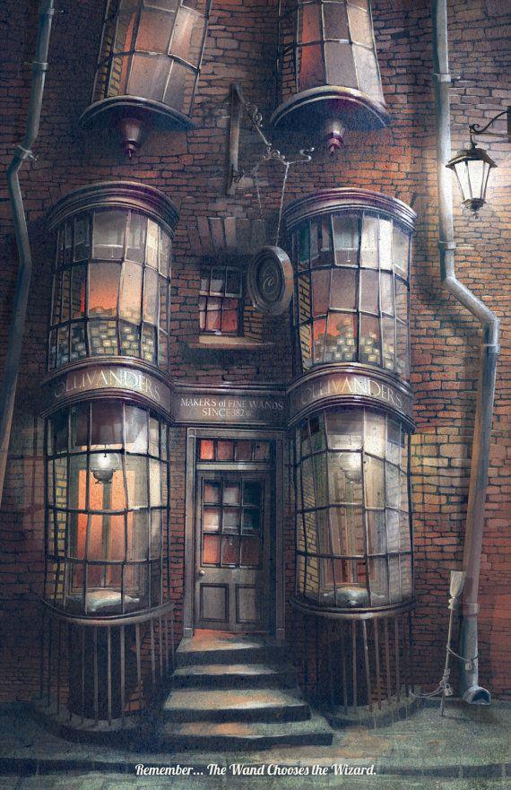 Harry Potter Poster Ollivanders Wand Shop by TheGreenDragonInn  7075c8527974