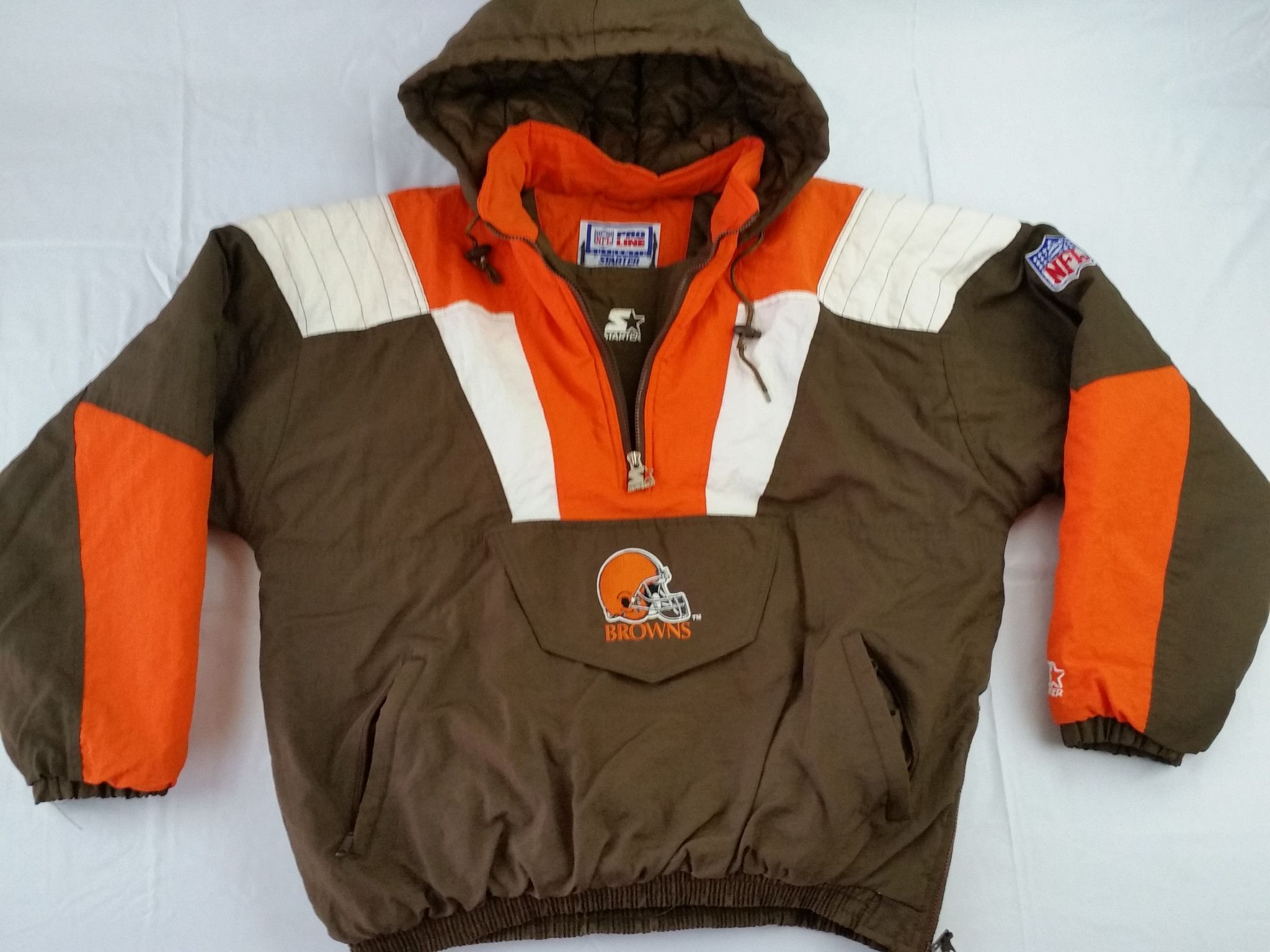 competitive price 26a54 e5ffa Cleveland Browns Starter Jacket NFL Vitnage Pullover ...