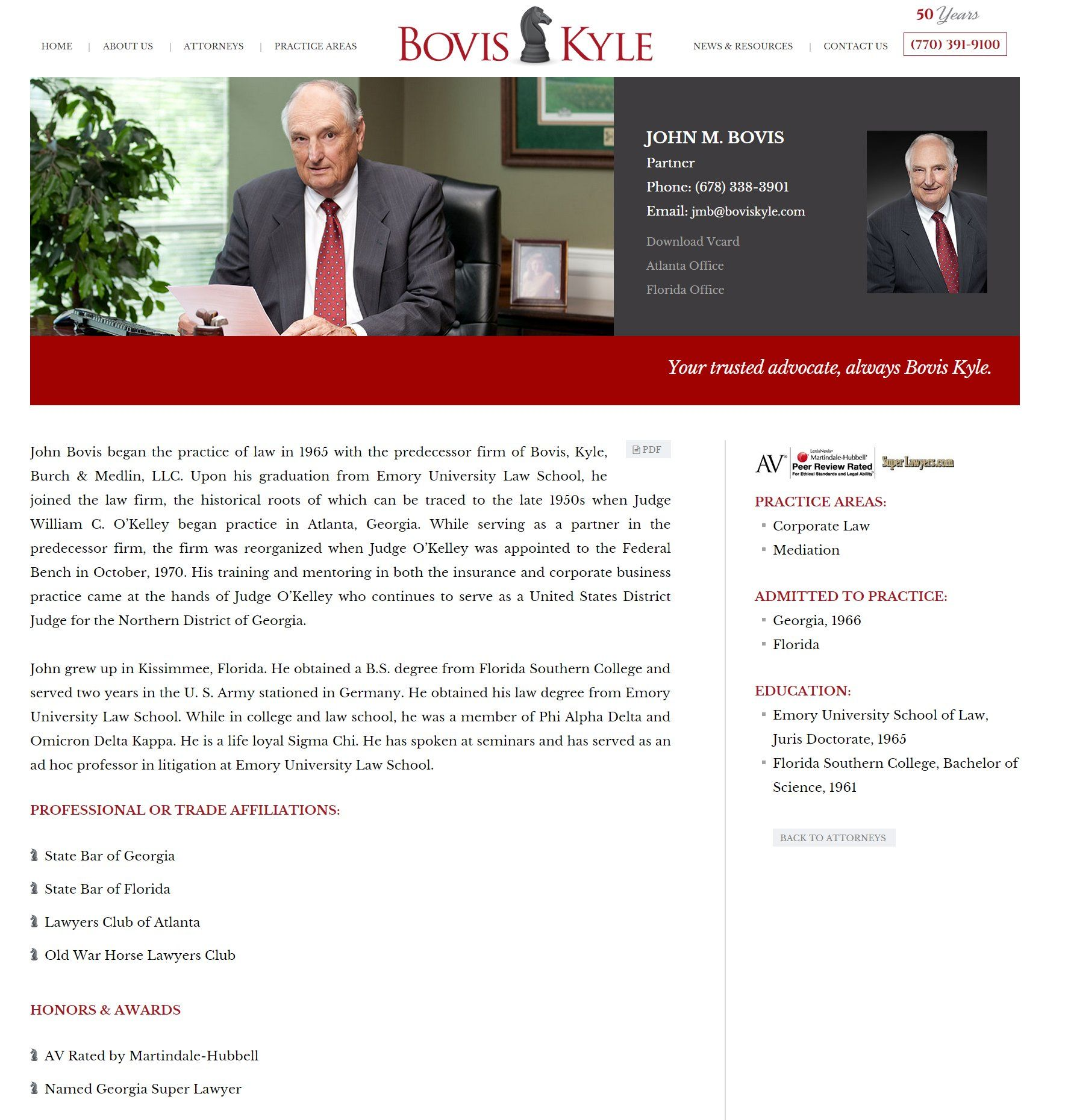 John M Bovis Web Design Web Design Inspiration Attorneys
