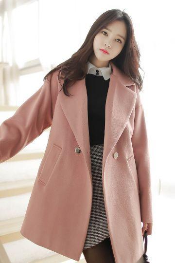 gold pastel coat korean fashion style clothes. Black Bedroom Furniture Sets. Home Design Ideas