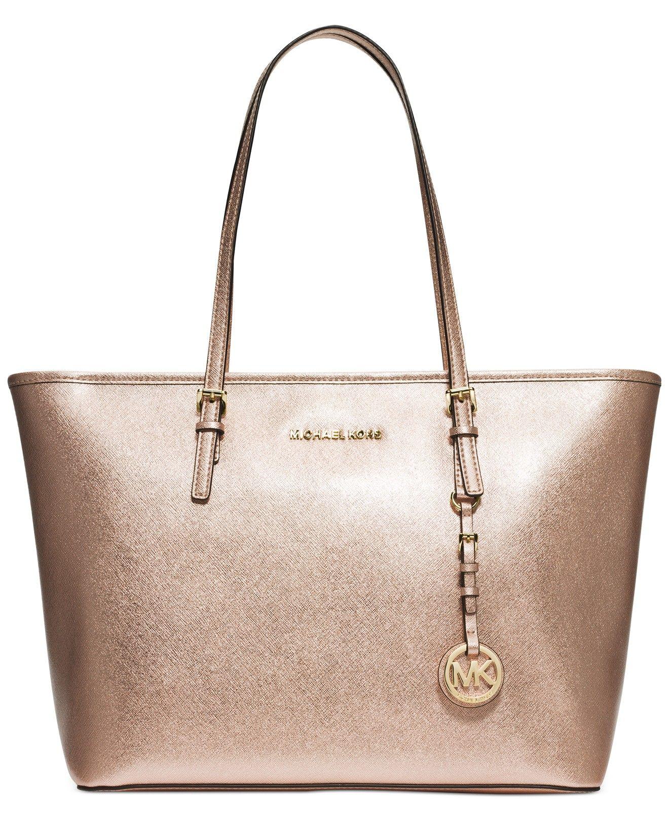 MICHAEL Michael Kors Jet Set Travel Top Zip Tote - Sale \u0026 Clearance -  Handbags \u0026