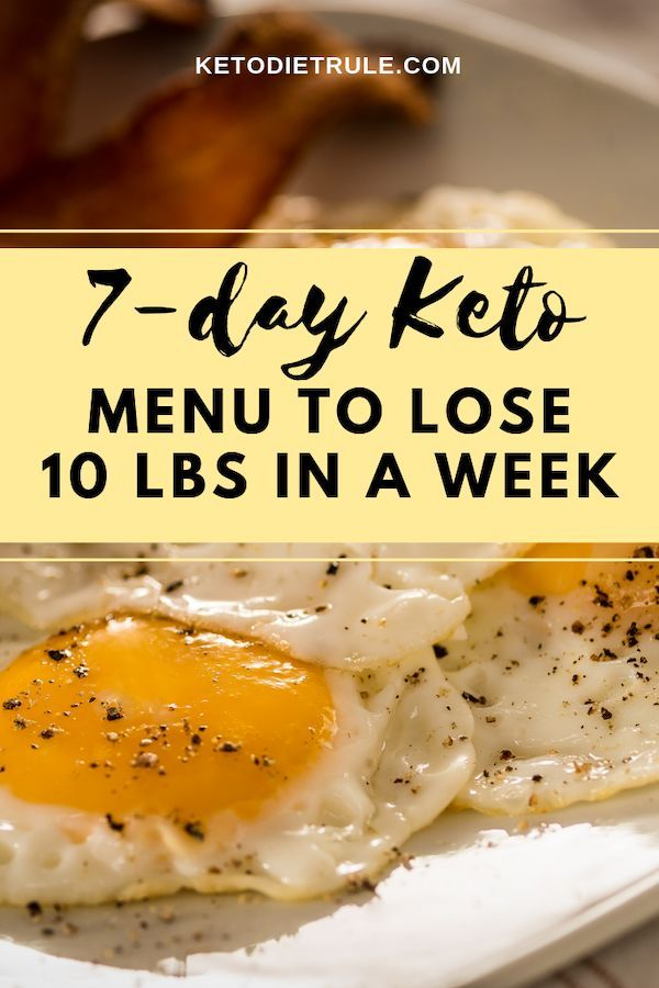 7-Day Keto Diet Meal Plan and Menu for Beginners #fitness #fitnessideas #diet
