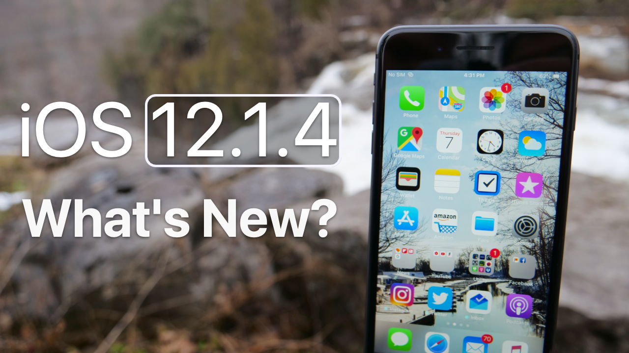 iOS 12.1.4 is Out! What's New? Iphone wishlist, Ipad