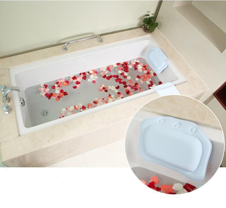 New sucker waterproof neck bath pillow massager PVC Foam Soft Plain ...