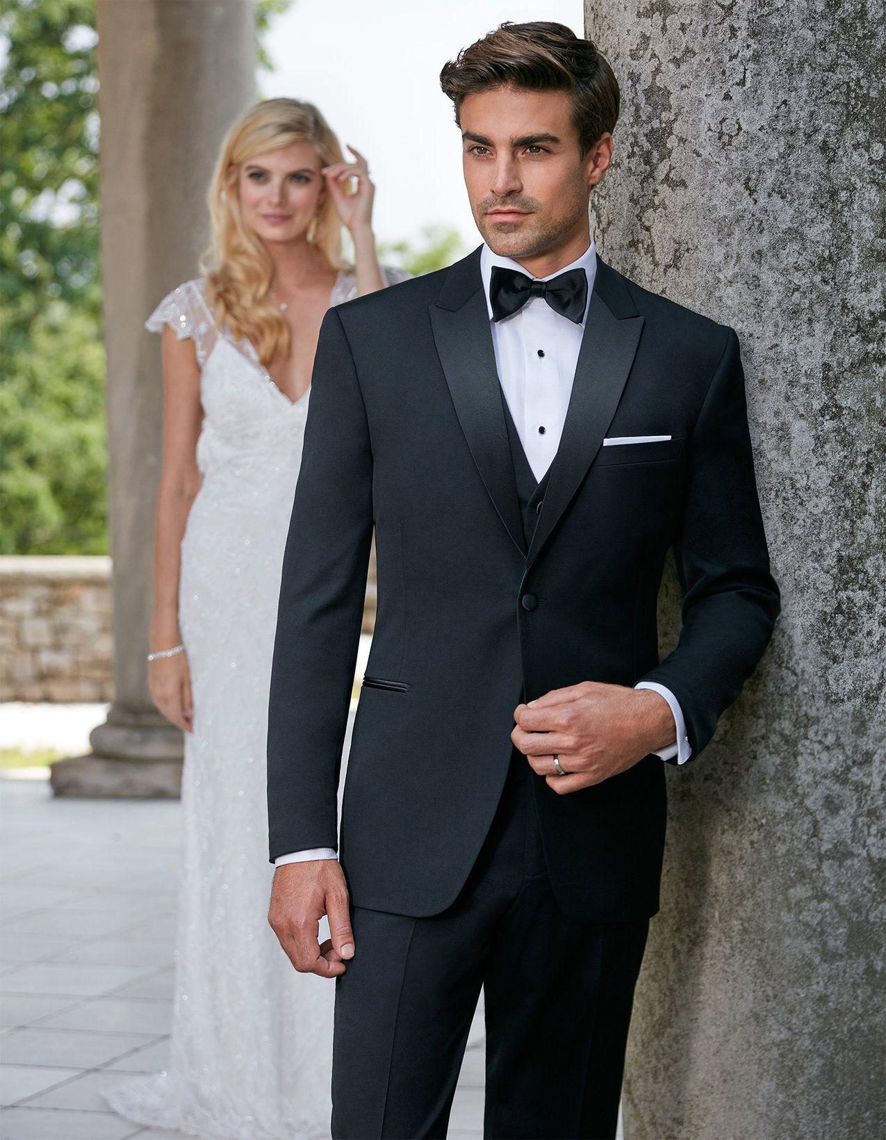 Black Pietro Modern Tuxedo Men Fashion Casual Shirts Wedding Suits Men