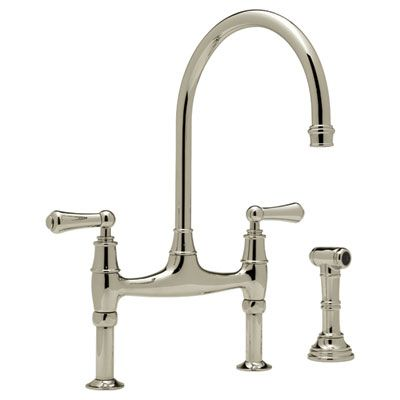 Kitchen Rohl Perrin & Rowe Bridge Kitchen Faucet With Sidespray Cool Rohl Kitchen Faucet 2018