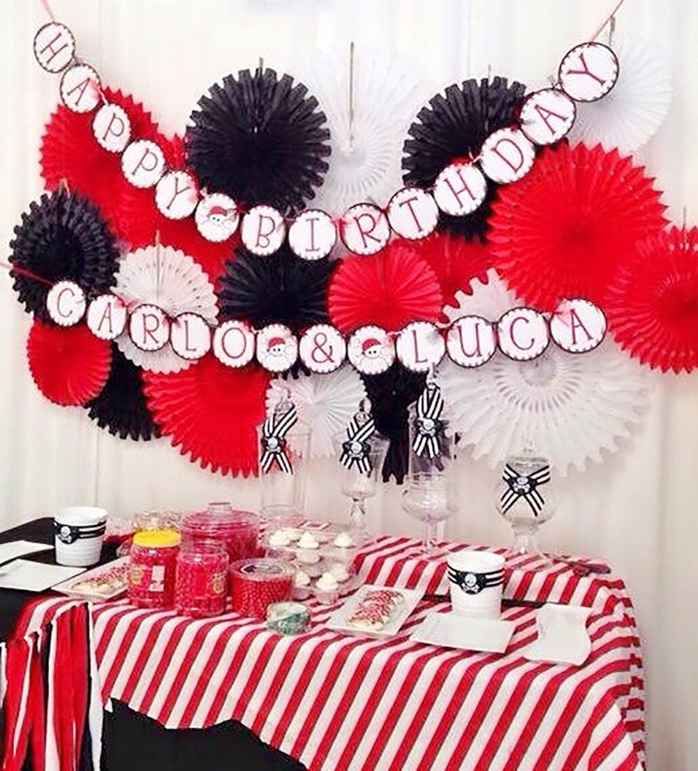 Qian S Party Mickey Mouse Party Supplies Red Black White Party D