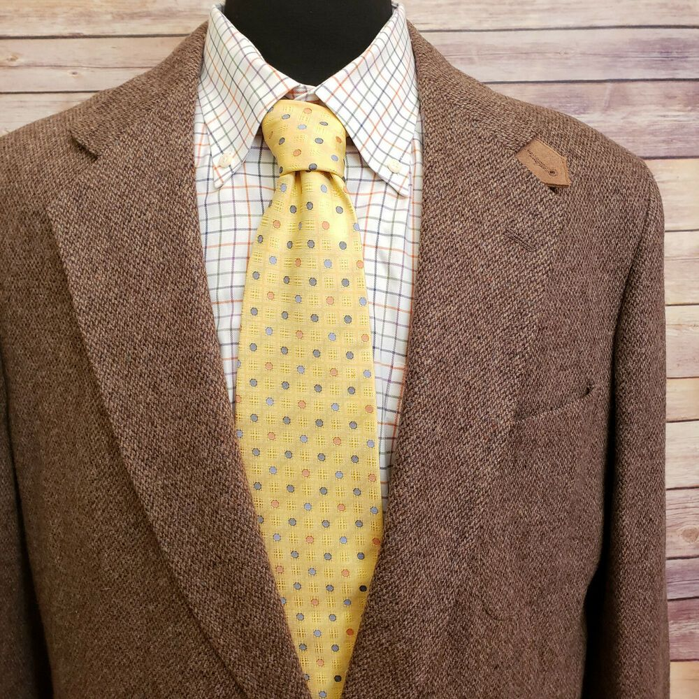 Stewart County Vintage Sport Coat Elbow Patches Brown