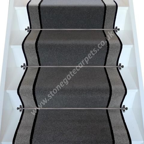 Best Brintons Carpets Bell Twist Smoke Ebony Pewter Stair 640 x 480