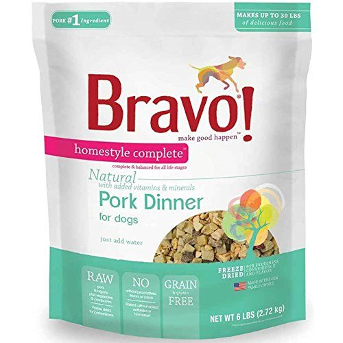 Bravo Homestyle Complete Freeze Dried Dinner Pork Dog Food, 2-Pound * Review more details here : Dog Food