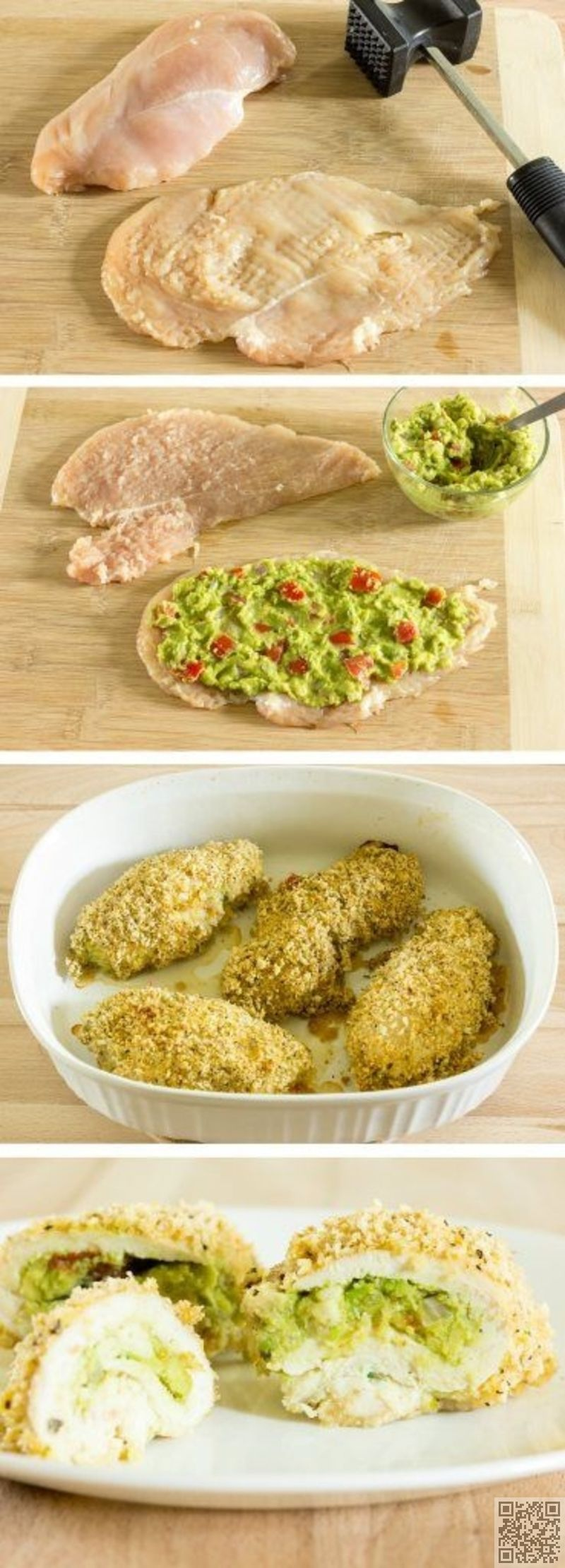 5. #Guacamole Stuffed #Chicken Breast - Wait Til You See #These 35 Superb #Things You Can do with an Avocado ... → Food #Salad