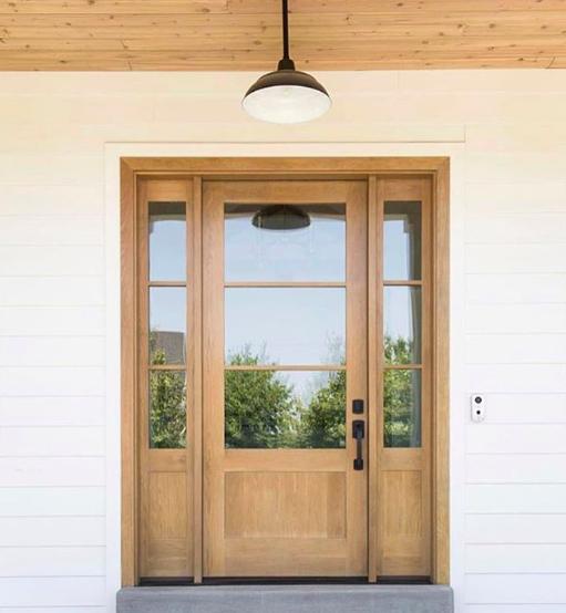 """Our """"New"""" Repurposed Front Door + Wood Door Inspiration"""