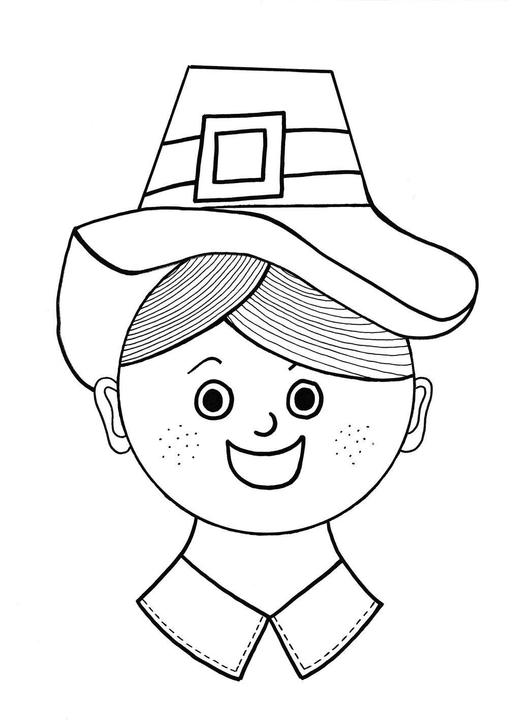 Thanksgiving Pilgrim Coloring Page | Pilgrim, Thanksgiving and Craft