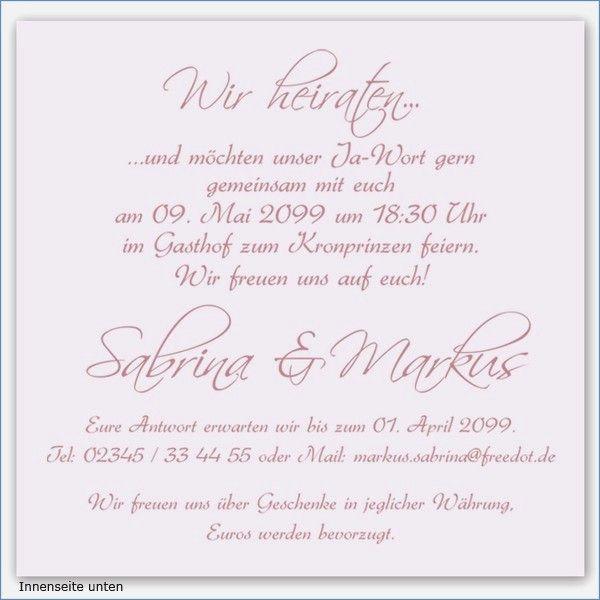 Hochzeitskarten Einladung Text Best Of Standesamtliche