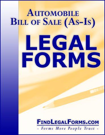Automobile Bill Of Sale AsIs  Stuff To Buy