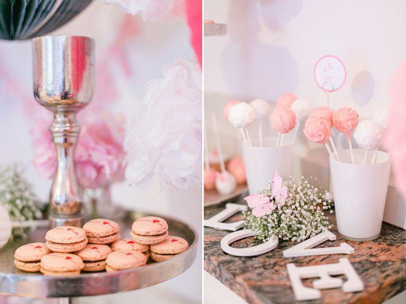 Candybar mit dem Farb-Motto Rosa und Weiß