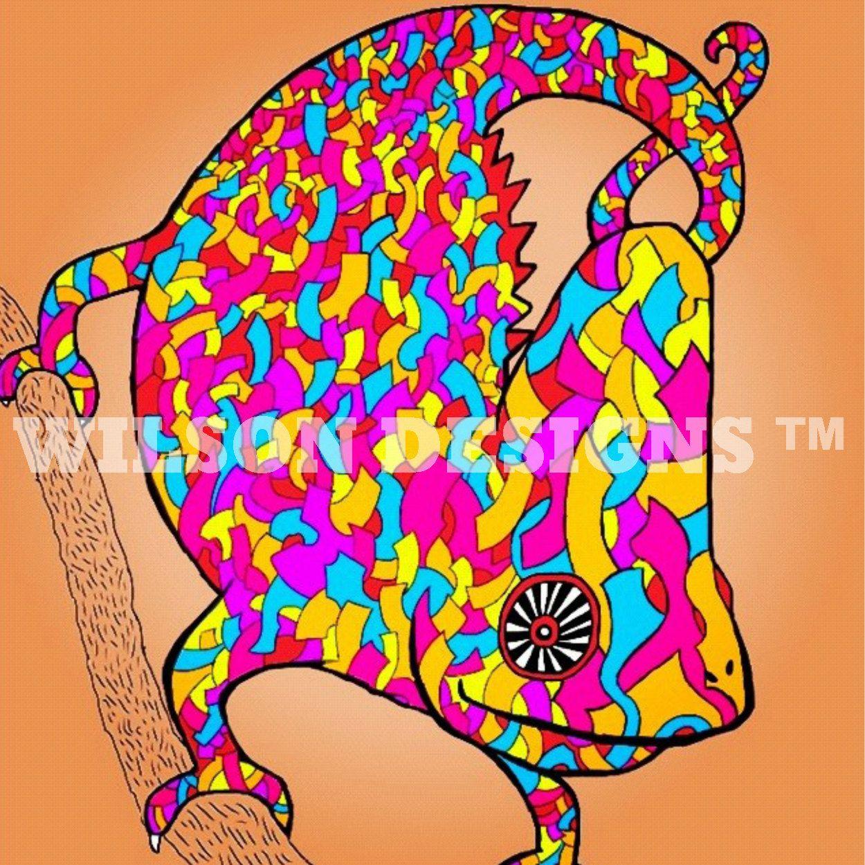 DaBeast Designs: Piñata Chameleon. $20.00, via Etsy.