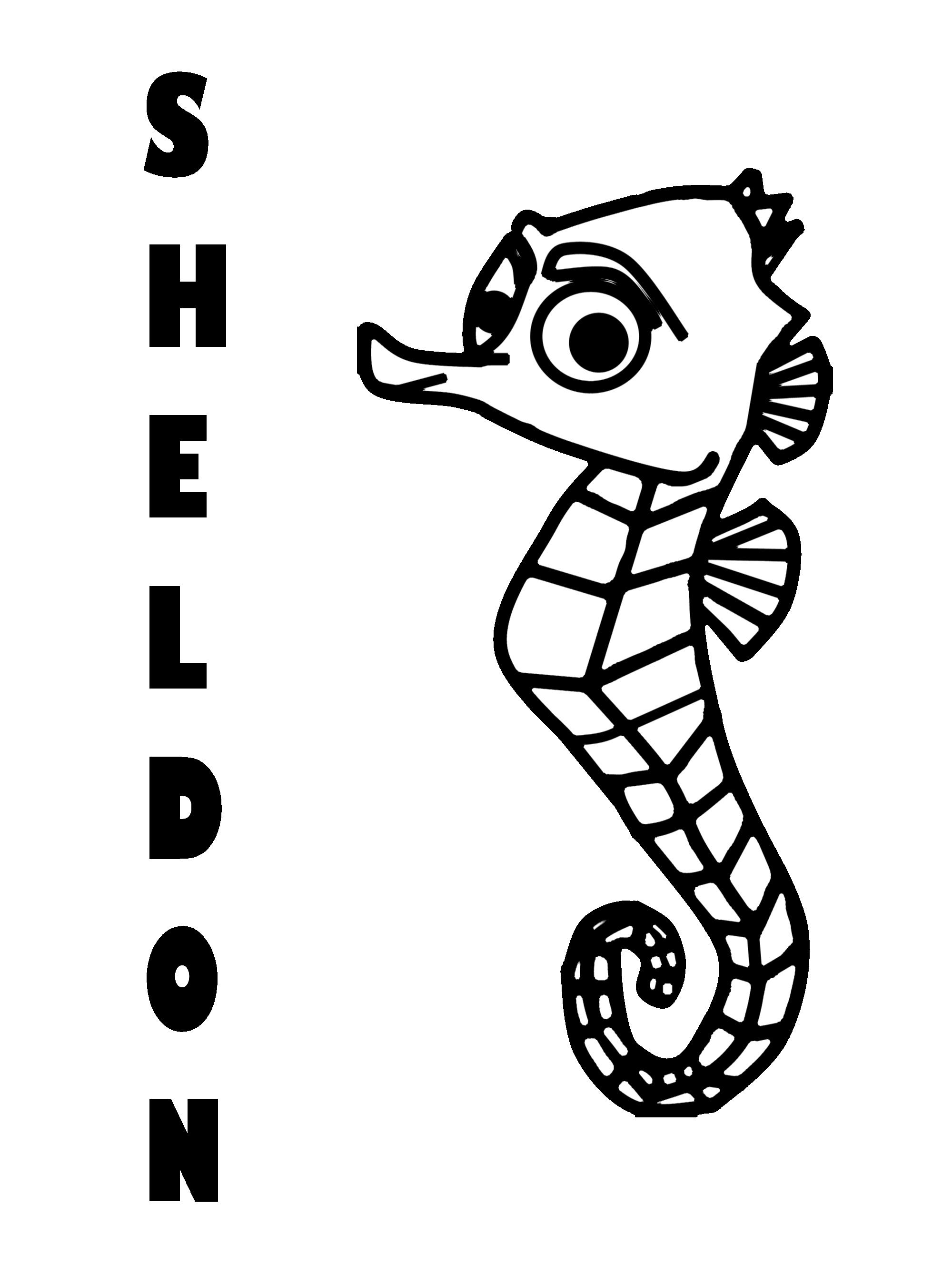 Sheldon Nemo Coloring Pages Finding Nemo Coloring Pages