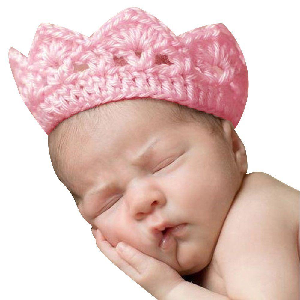 CHIC-CHIC Tricot Bébé Fille Garçon Photographie Chapeau Bonnet Couronne Prop Bandeau Serre-tête (Rose): Amazon.fr: Bébés & Puériculture