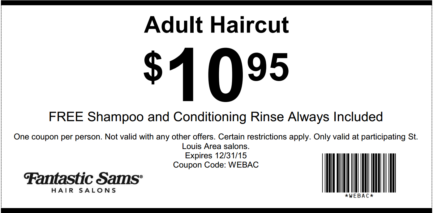 Haircut discount coupons