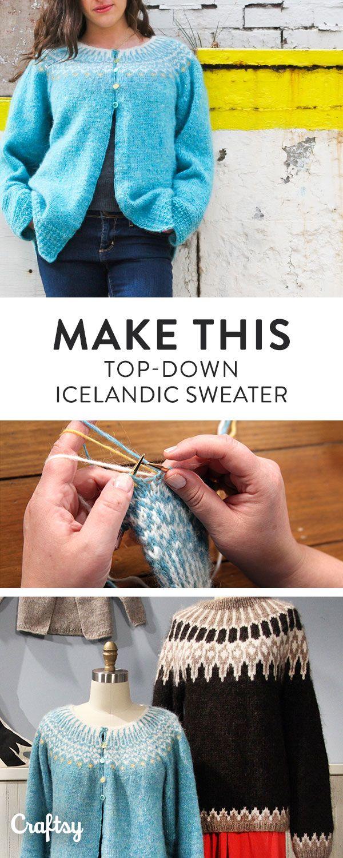 c1ff6b963949 The Top-Down Icelandic Sweater