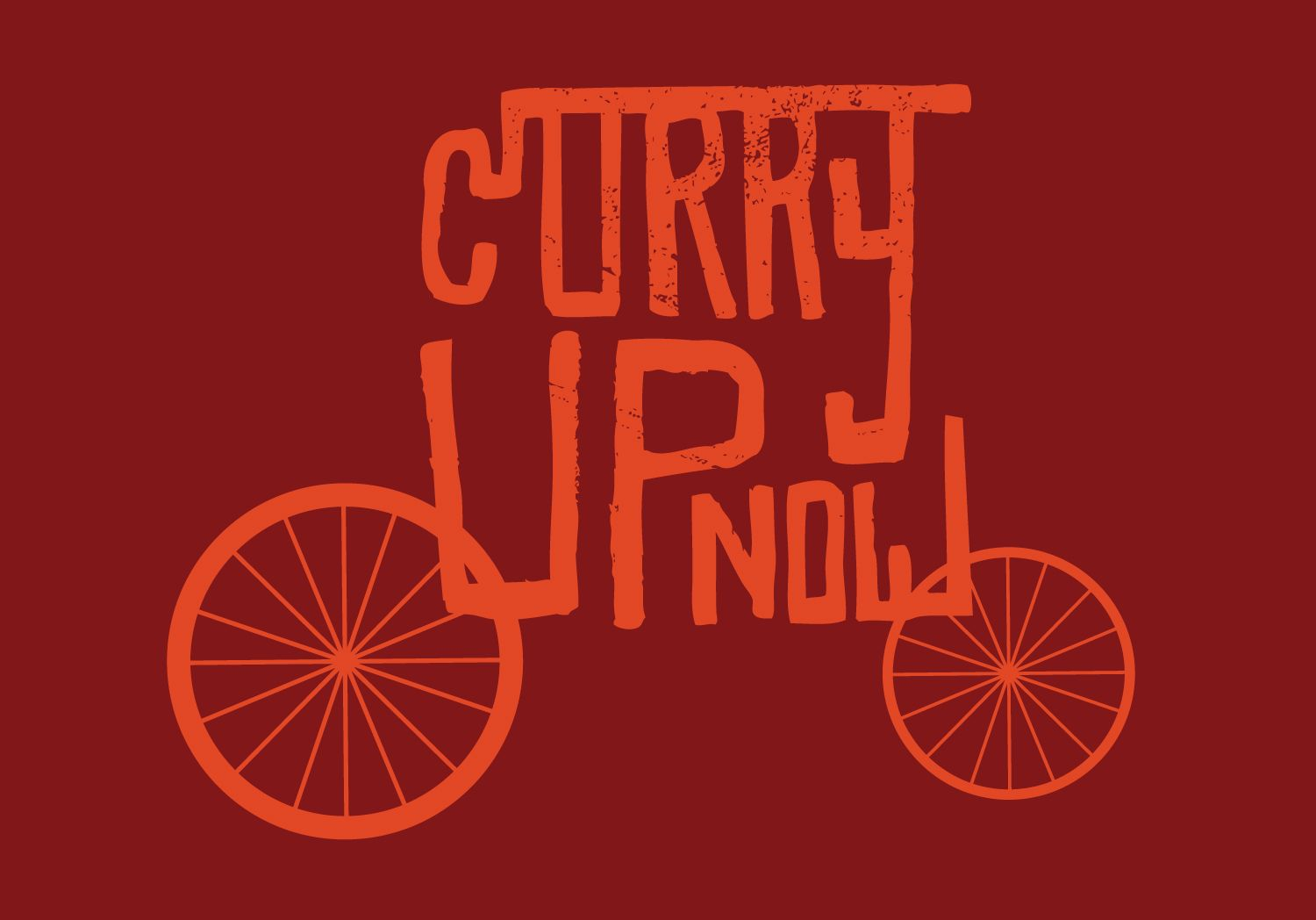 Curry up now food truck design food delivery logo