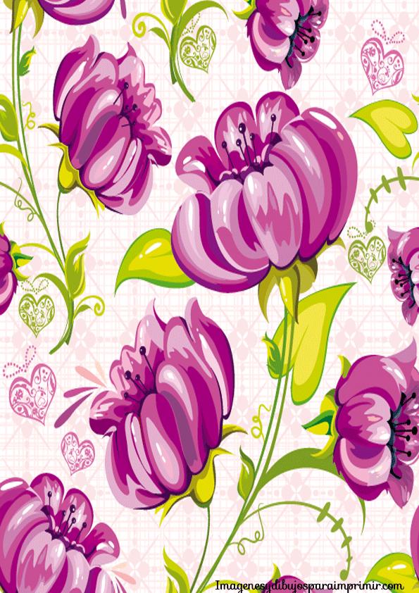 Papel Estampado Para Imprimir Imagenes Y Dibujos Para Imprimir Flower Painting Abstract Flowers Floral Pattern Vector