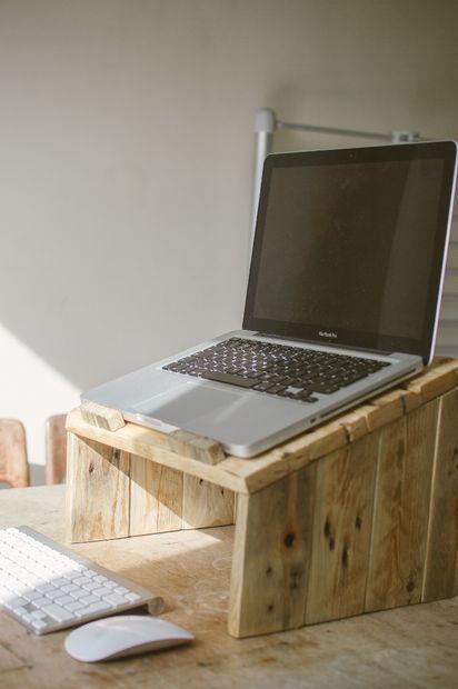 Pallet Wood Laptop Riser Wood Pallet Projects Pallet Diy Wood