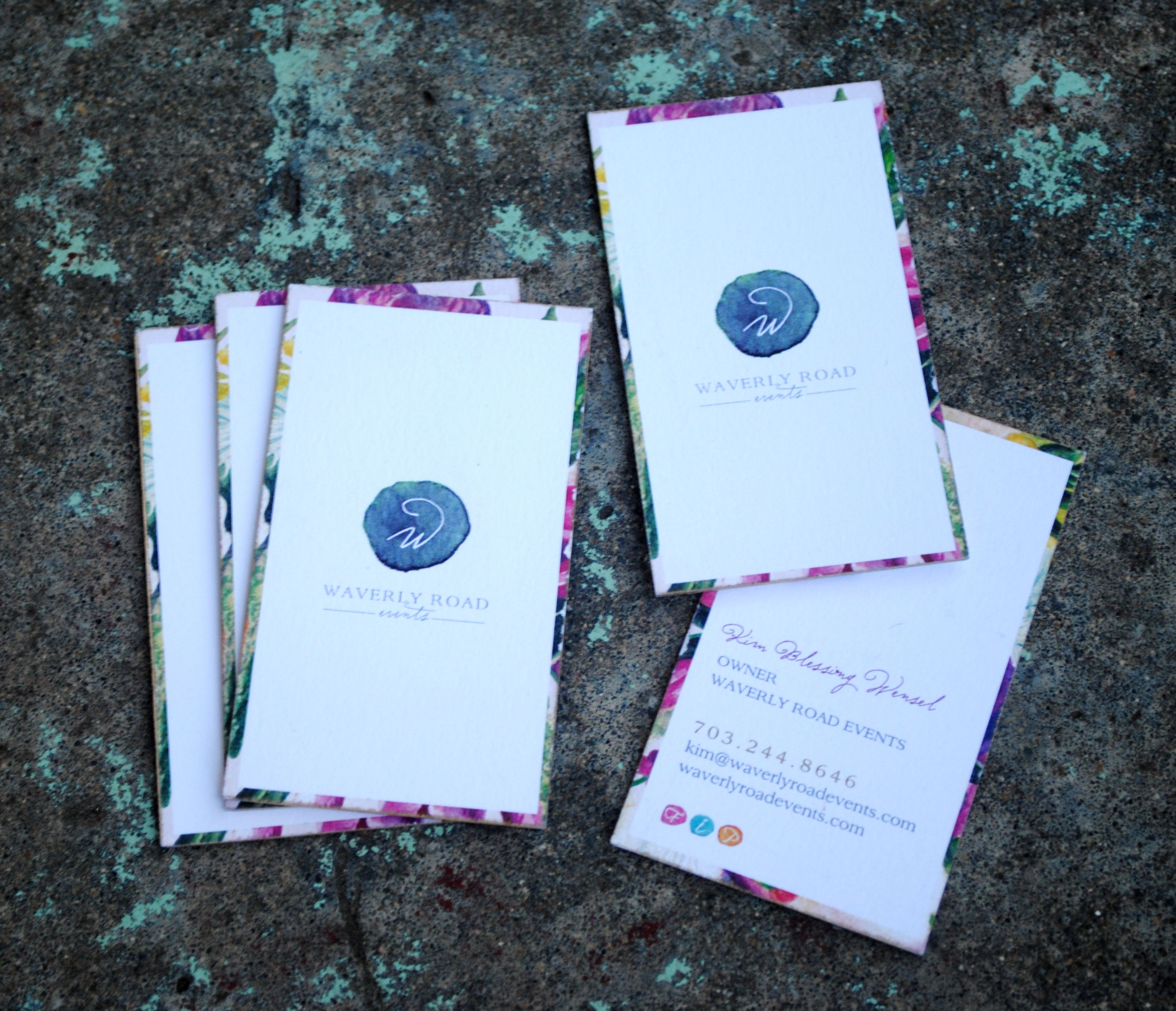 Boho business cards Emily Baird Design Pinterest