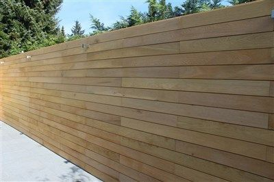 Houten Afscheiding Tuin : Ecohout horizontale houten afschutting. tuinen om bij weg te