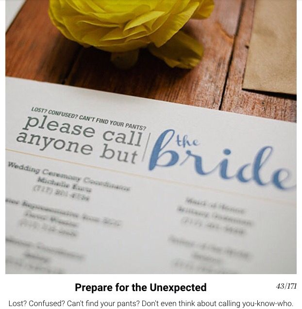 Anyone but the bride