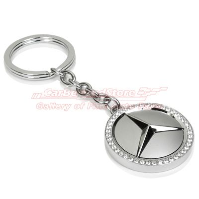 Handmade Laser Cut Gift Mercedes Benz Classic Leather Keyring