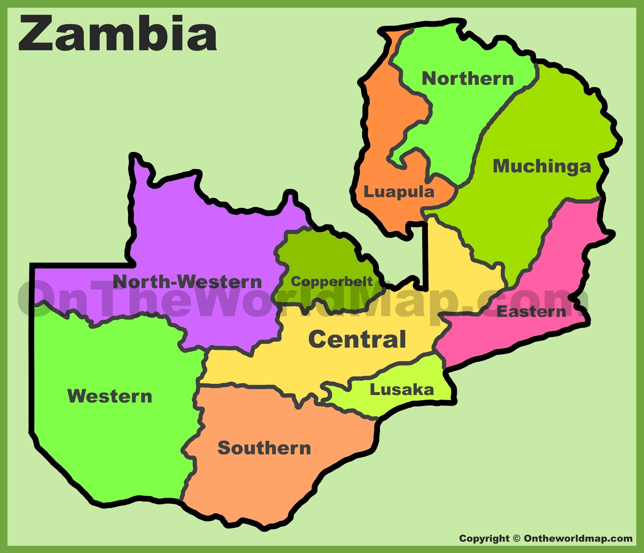 Zambia Maps Maps Of Zambia Christ Birthday Offering - Zambia map