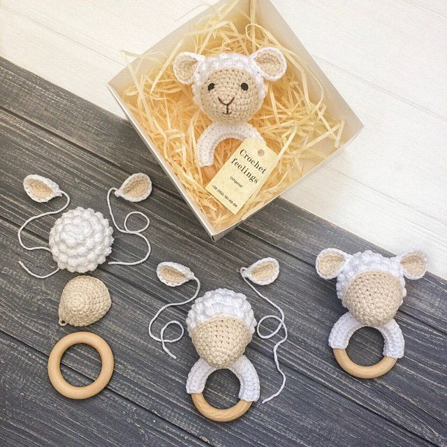 Photo of Häkeln Sie Schaf Rassel Beißring Bio Neugeborenen Spielzeug Amigurumi | Etsy Weitere Informationen finden Sie unter …