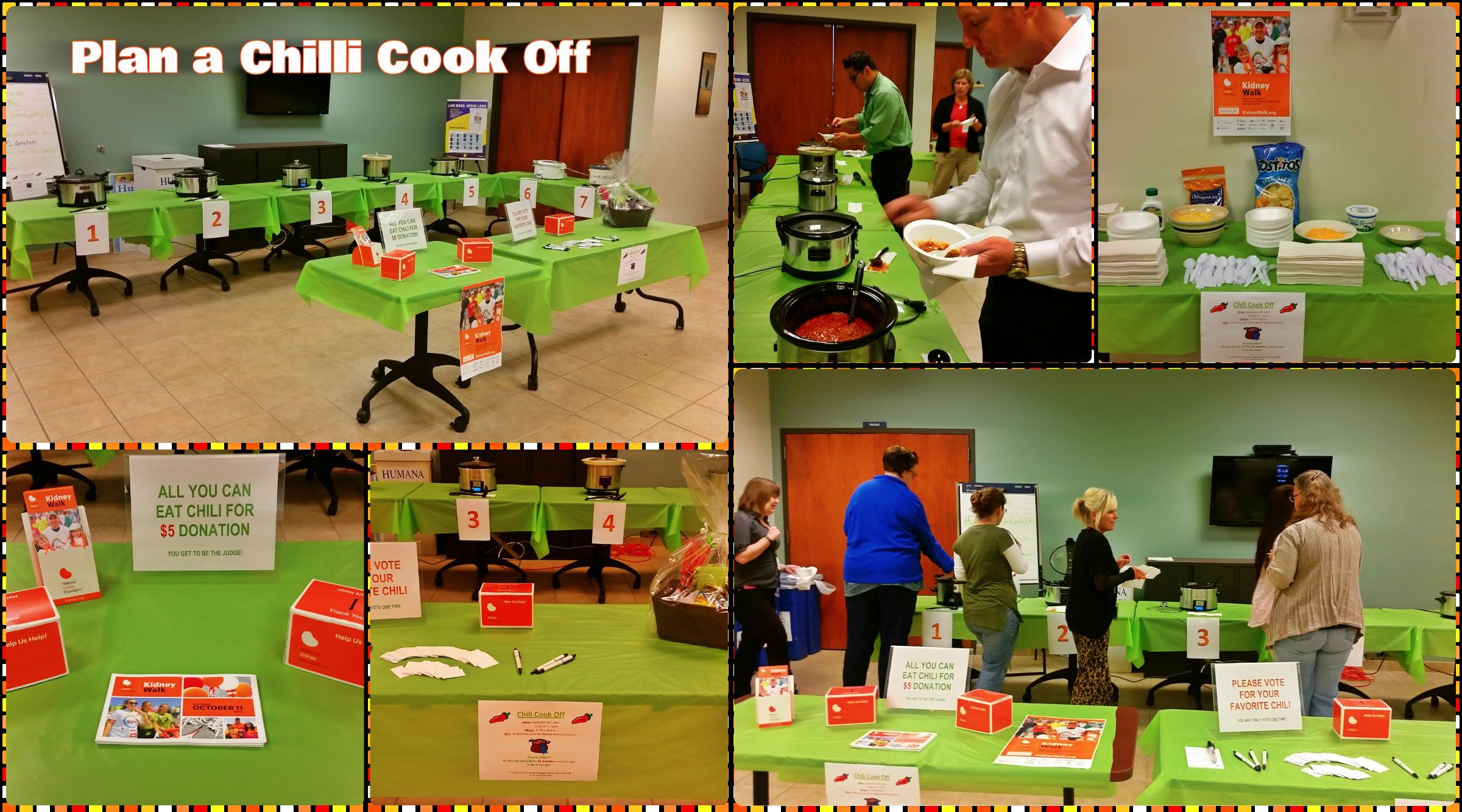 Host an office chilli cook off like team humana for the