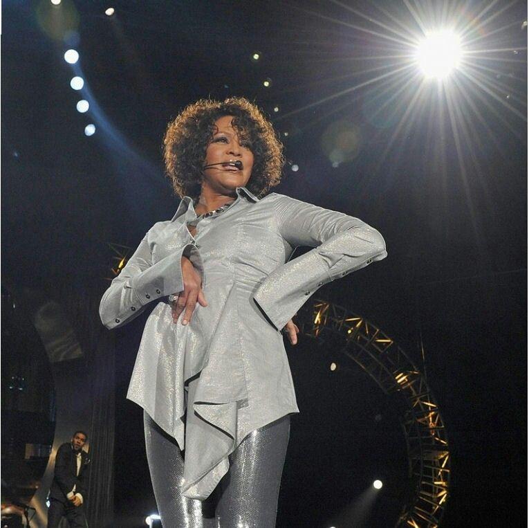 Whitney Houston On Stage In Leipzig