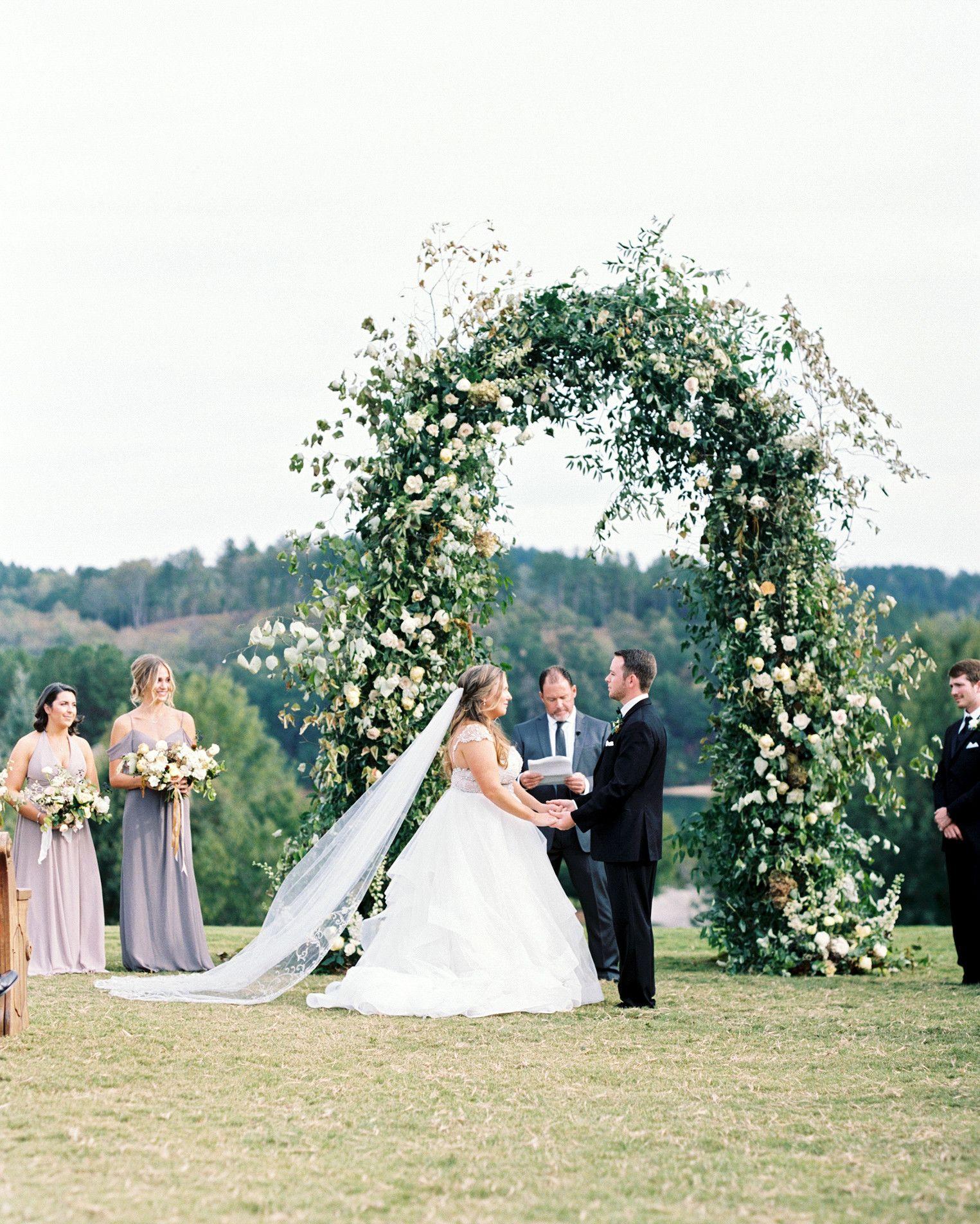 One Couple's Elegant Lakeside Wedding in South Carolina | Outdoor