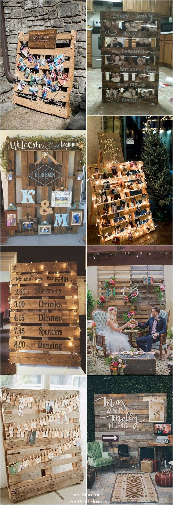 Pallet wedding decor ideas  Top  Rustic Country Wooden Pallet Wedding Ideas  Wood pallets