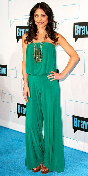 Betheny Frankel gets in on the jumpsuit trend in this flattering Jade green number.