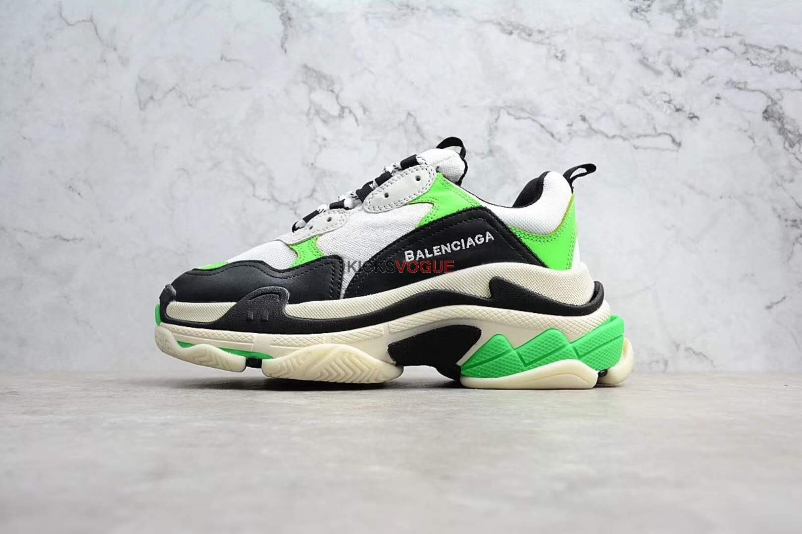 check out 96d7a 63b3f Balenciaga Triple S Mr. Porter Neon Green