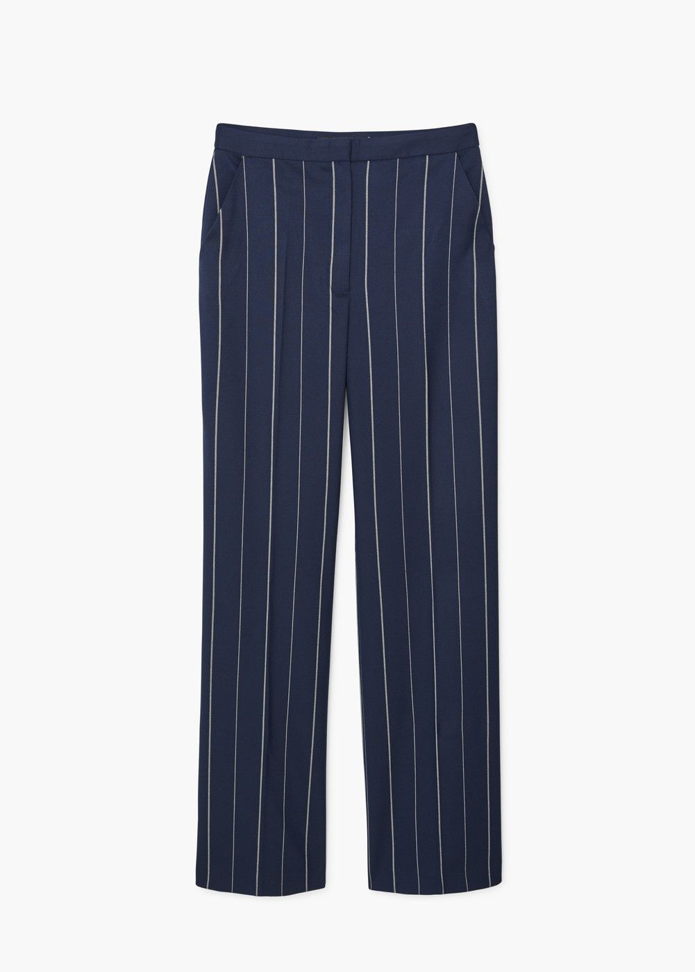 6abd959b48 Straight striped trousers - Woman