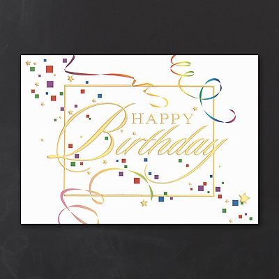 Streamers and confetti business birthday cards custom printed http streamers and confetti business birthday cards custom printed httppartyblockinvitationsoccasions colourmoves