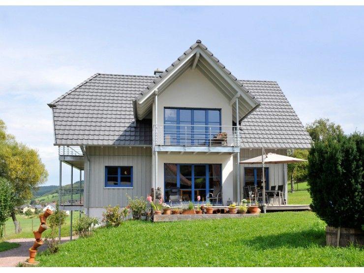 Natur 156 - #Einfamilienhaus von Frammelsberger R. Ingenieur-Holzbau GmbH   HausXXL #Blockhaus #modern #Satteldach