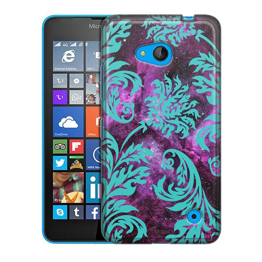 Nokia Lumia 640 Damasks Vintage Turquoise on Nebula Slim Case