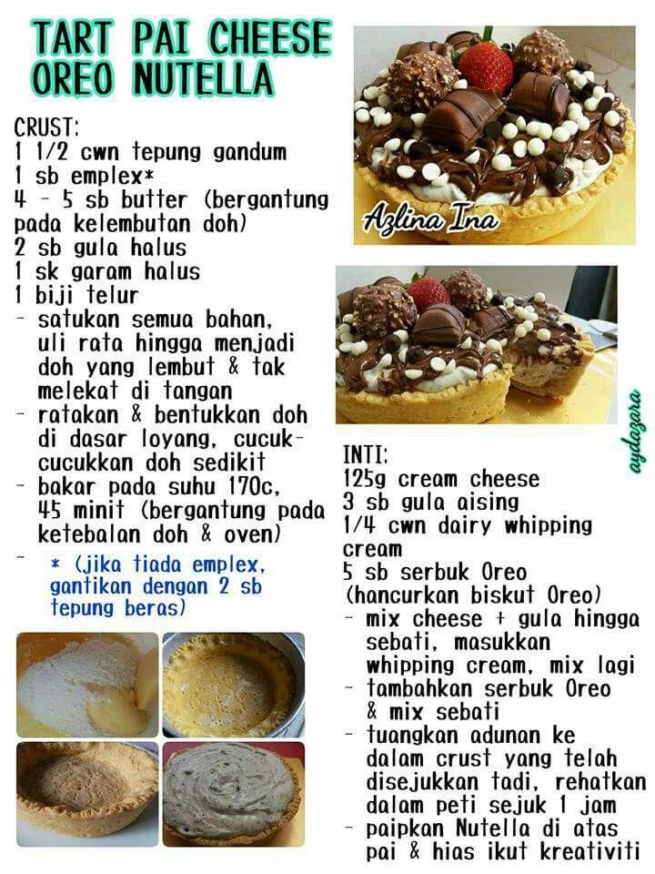 Tart Pie Cheese Oreio Nutella