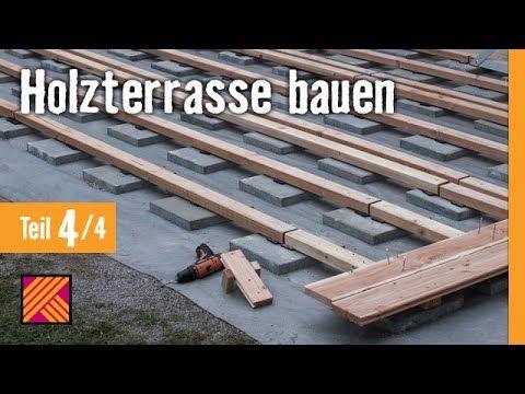 Holzterrasse Bauen   Kapitel 4 : Terrassendielen Verlegen | HORNBACH Mei...  | Videos | Pinterest