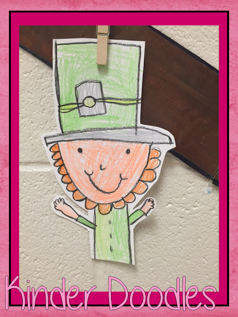 leprechaun directed drawing kinder doodles