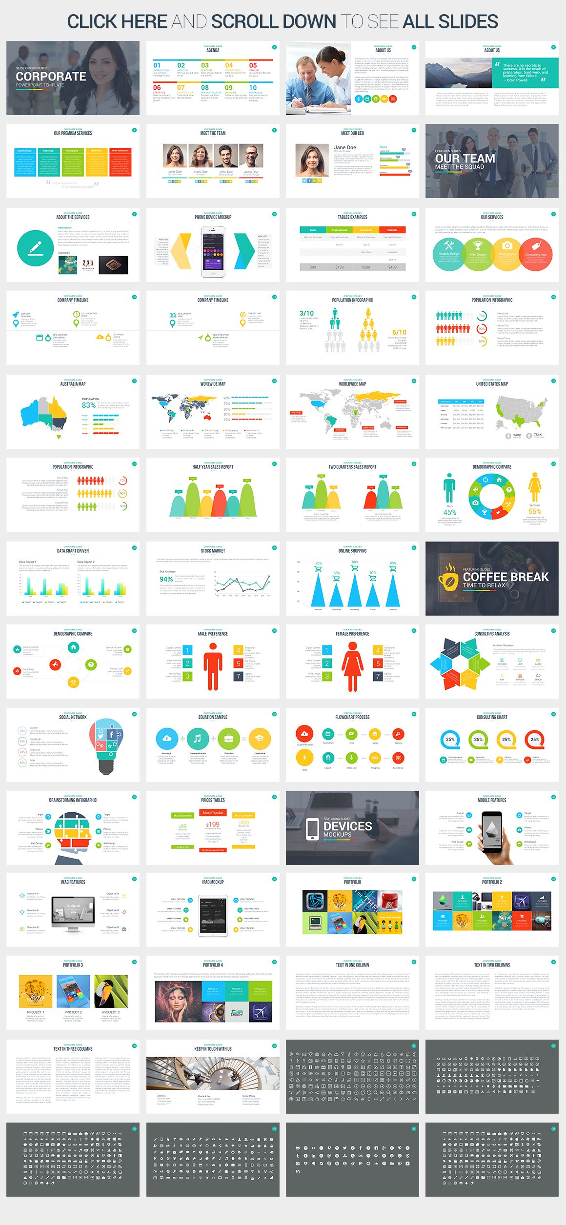 Corporate PowerPoint Template by SlidePro on Creative Market